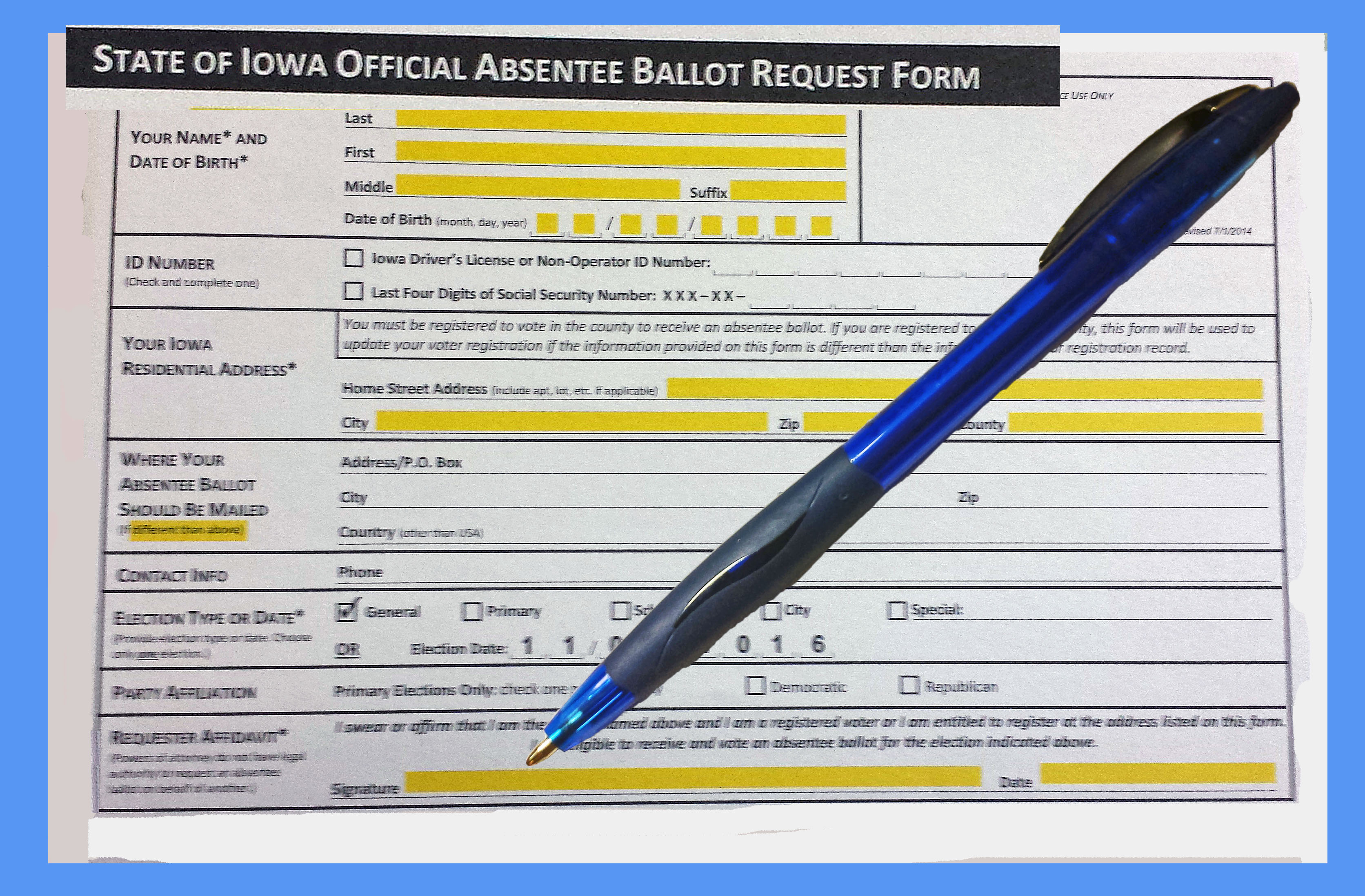Ballot Appl and Pen